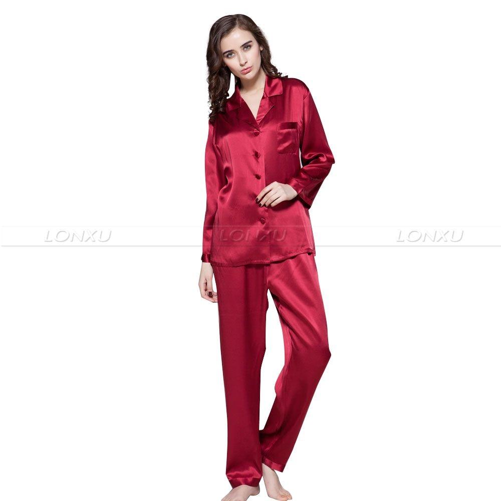 Qadın ipək atlaz pijama dəsti Pijama pijama dəsti, geyimi salonu geyimi ABŞ S6, M8, M10, L12, L14, L16, L18, L20 S ~ 3XL Plus_Giftlər