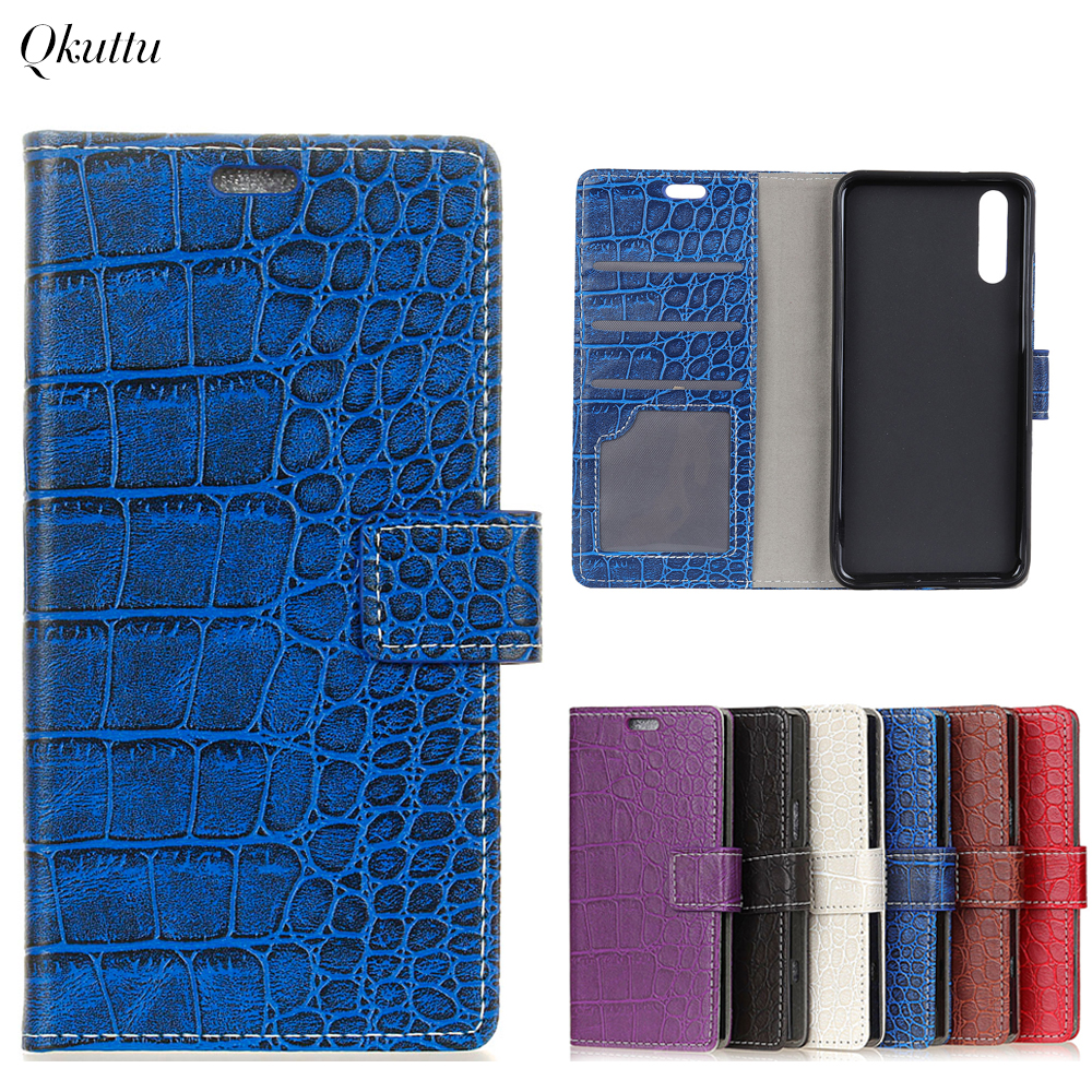 Uftemr Vintage Crocodile PU Leather Cover for Huawei P20 Pro Protective Silicone Case Wallet Card Slot Phone Acessories