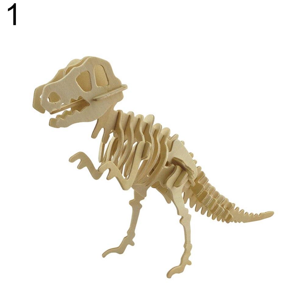 Divertido 3D simulación dinosaurio esqueleto rompecabezas DIY ...