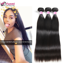 Funmi Peruvian Straight Hair Bundles Double Weft Human Hair Bundles Extensions 1/3/4 Bundle Deals Peruvian Virgin Hair Straight