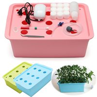 9 Holes Nursery Pots 220V Soilless Site Hydroponic Cultivation System Indoor Garden Cabinet Box Grow Kit