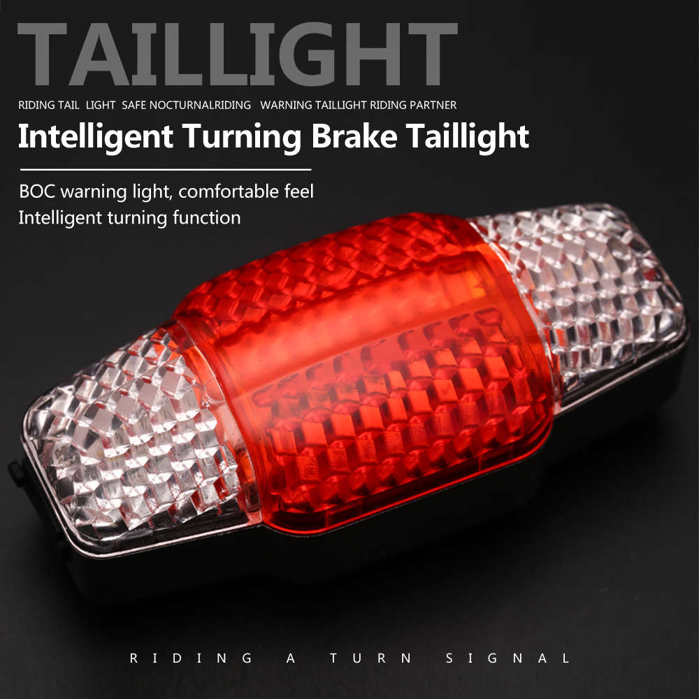 COB Bicycle Tail Light USB Rechargeable Taillight Turn Signal Safety Warning Light Brake Light Smart Bike Rear Light Accessories
