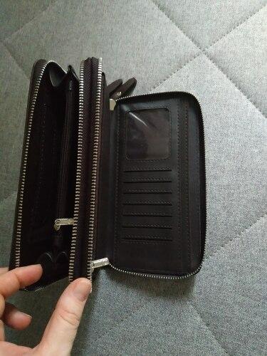 Men wallets with coin pocket long zipper coin purse for men clutch business Male Wallet Double zipper Vintage Large Wallet Purse