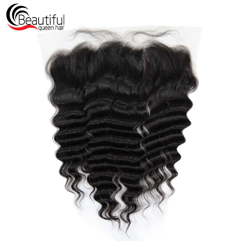 Beautiful Queen 10A Brazilian Hair TRANSPARENT LW Lace Frontal 13x6  Loose Wave Pre-Plucked With Baby Hair Free Shipping