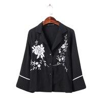 ZANZEA Floral Embroidered Blouse Shirt 2017 Fashion Loose Lapel Long Sleeve Female Blouses Vintage Blouse Blusas