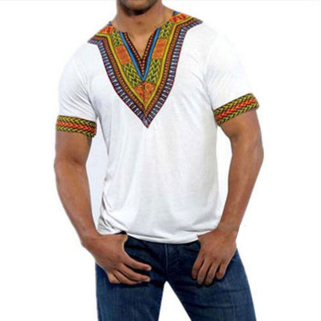 df6a049af1376e Dashiki Maxi Man's T-shirt Summer Traditional African Clothing T shirt Men  Tribal Poncho Mexican Ethnic Boho Tops Plus Size 4XL