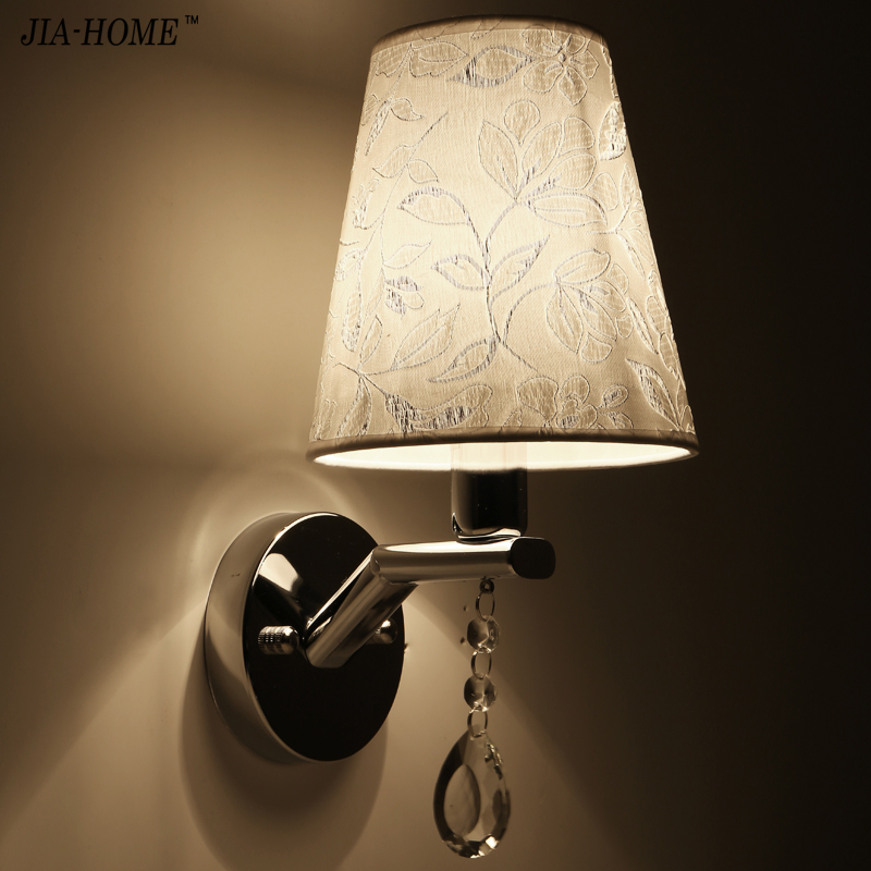 Wall light cloth lampshade 110V/220V E14 Sconce Light for Indoor bedroom bedside Lamp balcony lighting fixtures luminaria