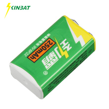 KINBAT 9V 250mAh 6F22 Ni-MH Rechargeable Battery 9 Volt NIMH Battery For Electronic Instrument Multimeter Alarm Toys Batteries