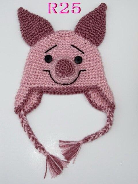 Babymütze Häkeln Ohr Niedlichen Tiere Piggy Motorhaube