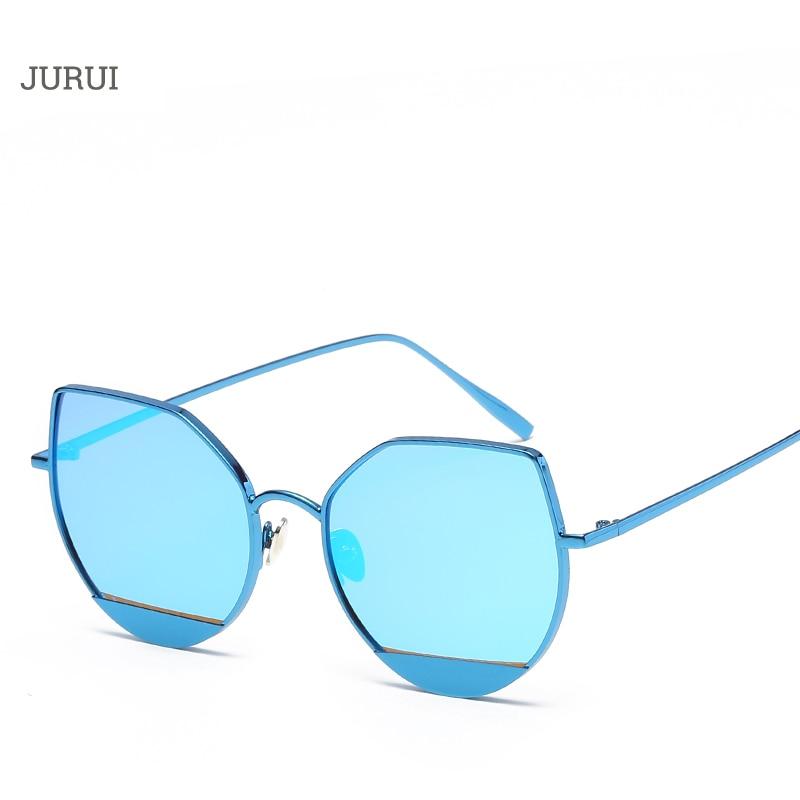 Hot Sale 2017 Cat Eye Pink vintage Mirror female sunglasses Brand Designer Unisex women and men girls love sun glasses
