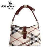 FERAL CAT Women crossbody bag Fashion flap PVC soft zipper versatile single high quality cotton famous designer ladies Handbags