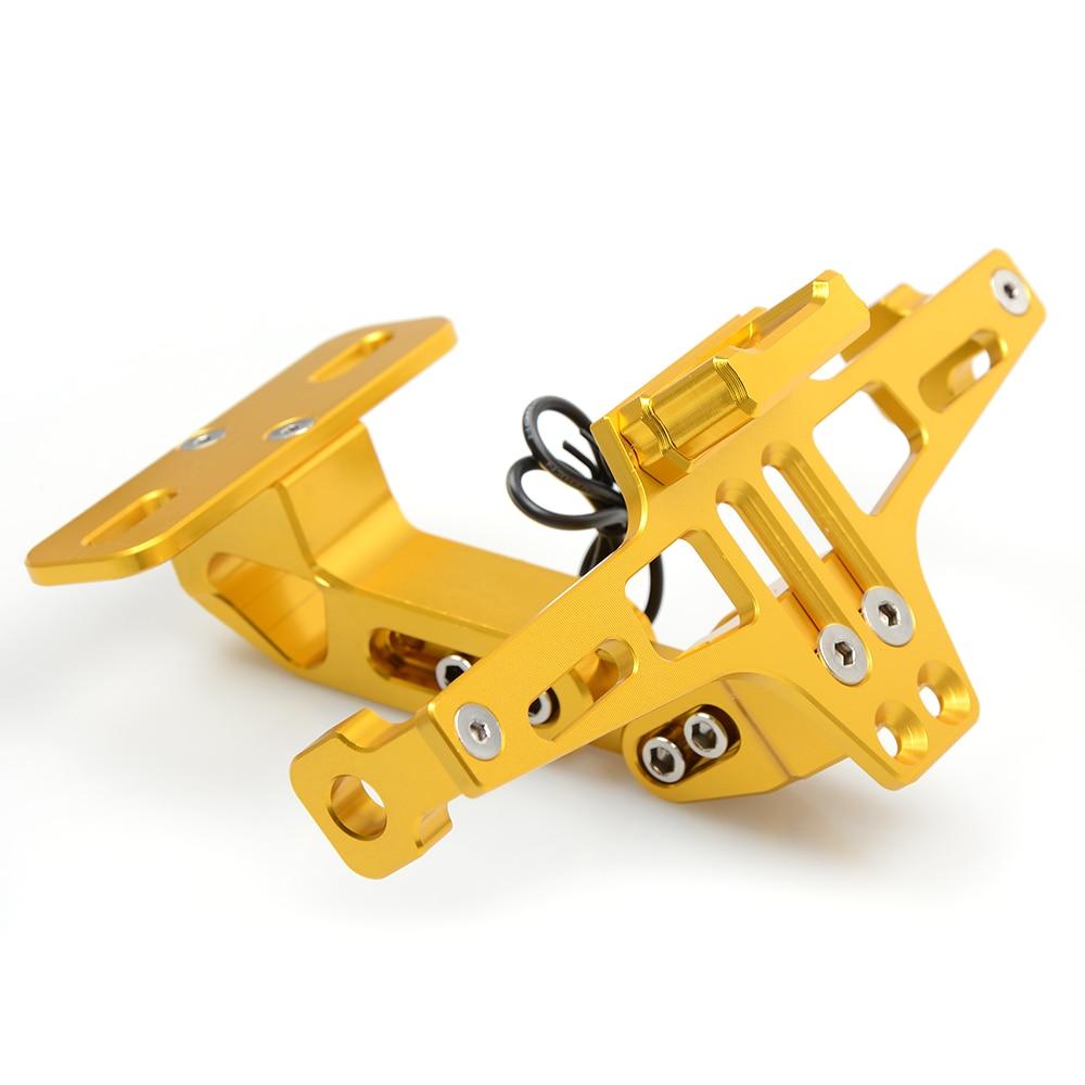 Мотоцикл аксессуары номерного плиты CNC держатель с подсветкой для Ямаха МТ01 MT02 MT03 MT07 MT09/Трейсер MT10 MT25 /АБС