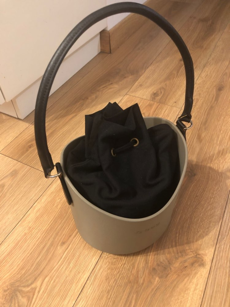 TANQU 1 Piece Concise Round Leather Handle with D Buckle Drops for Classic Mini Obag Basket Bucket City Chic Women Handbag O Bag photo review