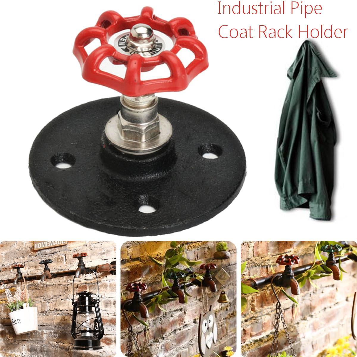 ganchos de pared de hierro de metal sombrero perchero industrial vintage tubo interior accesorios decorativos ganchos