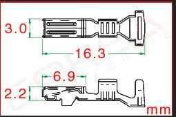 100/500/1000 шт./лот обжимные клеммы (шпильки) для коннектор furukawa, замена RFW-F-050/RFW-F-125