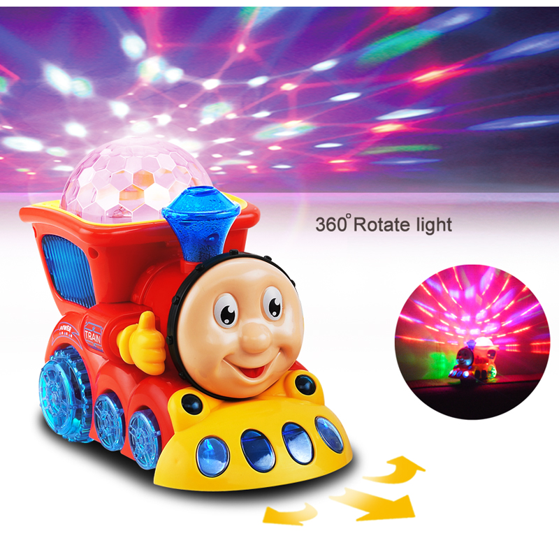 Classic Toys Train With 3D Light And Music Electric Car Toy Diecast Railcar Toys Children Kid Boys Girls Gifts