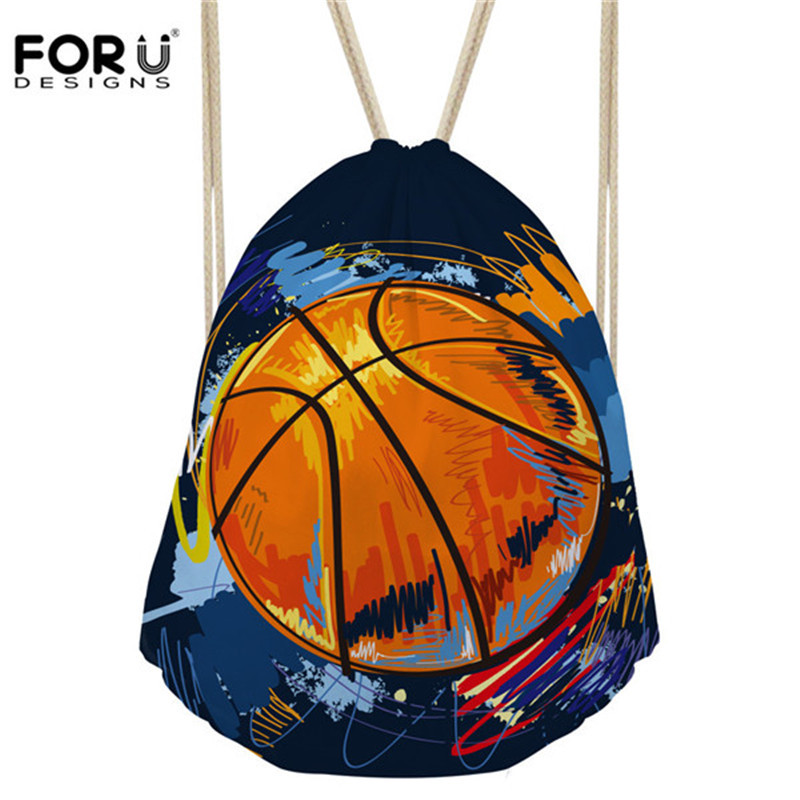 Lights & Lighting Active Forudesigns Basket Ball Drawstring Bag Printing Travel Backpack Mens School Backpacks For Children Teenager Boys Casual Mochila Luxuriant In Design