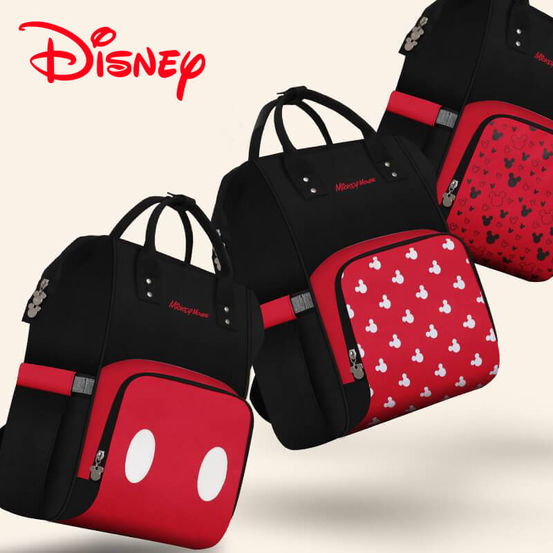 Disney Mickey Best Diaper Backpack Baby Bag Mummy Maternity Care Large  Capacity Nappy Bag USB Bottle 69af32853a29
