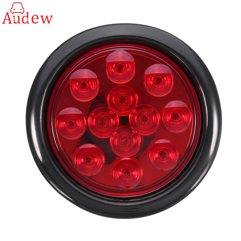1Pcs LED Side Light Truck Trailer Lights DC 12V LED Car Turn Stop Brake Tail Self-Contained Round Waterproof  Light 2pcs 20 led car truck red amber white led trailer waterproof tail lights turn signal brake light stop rear lamp dc 12v cy798 cn