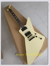 Custom Built MR-Explorer Electric Guitar Man TO Wolf Inlay Ebony Fingerboard Black ESP Guitar(China)