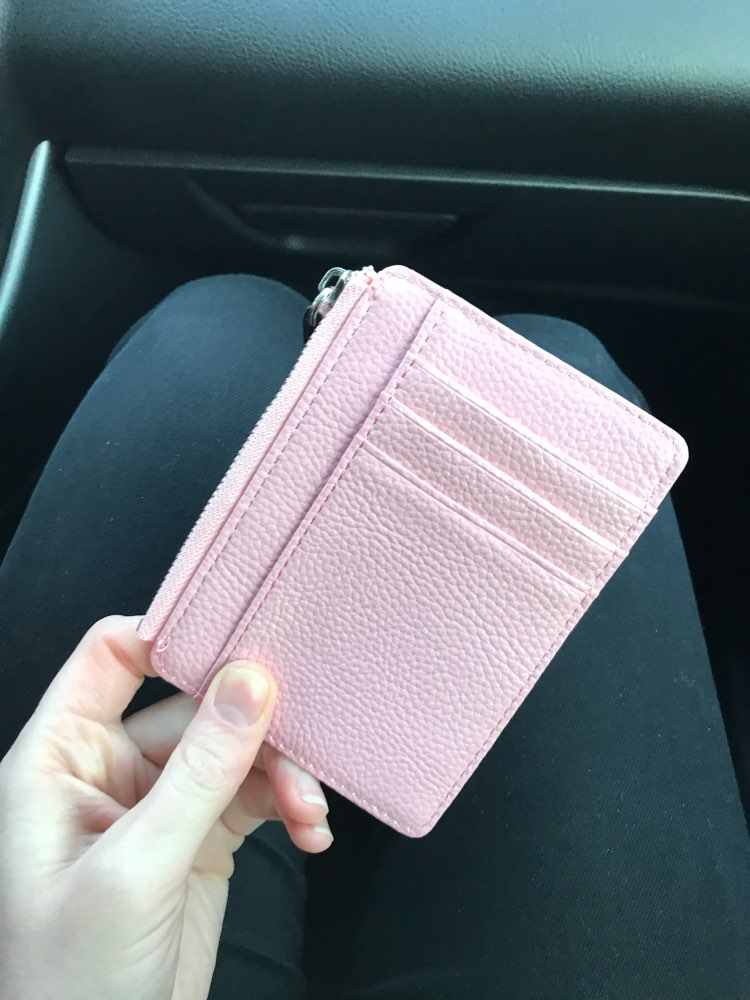 2019 HOT Selling! Mens/Womens Mini ID card Holders Business Credit Card Holder PU leather Slim Bank Card Case Organizer Wallet photo review
