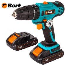 Drill driver rechargeable shock Bort BAB-18Ix2Li-FD