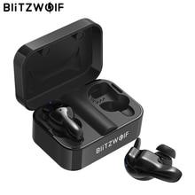 Blitzwolf bluetooth V5.0 TWS kablosuz kulaklık Stereo kulaklık su geçirmez mikrofon spor kulaklık telefon için şarj kutusu ile