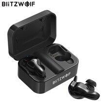 Blitzwolf bluetooth V5.0 TWS sans fil écouteur stéréo écouteurs étanche Microphone Sport casques avec boîte de charge pour téléphone
