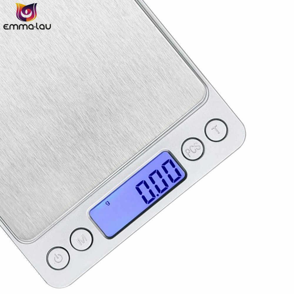 500 г/0.01 г 3 кг/0.1 г Электронный Весы точность Портативный карман ЖК-дисплей цифровой ювелирные Детские весы Вес баланс Кухня gram Весы