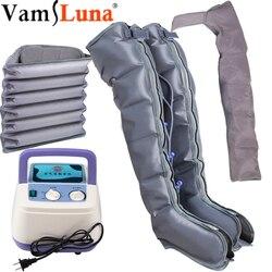 Homem alto versão estendida compressão de ar massageador portátil controlador bomba circulação sanguínea envoltório conjunto para relaxar massagem