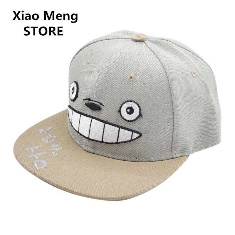 Cotton Japan Hayao Miyazaki Anime Tonari No Totoro Baseball Cap Women Men Neighbor Totoro Snapback Hats Hip Hop Caps Bones M32 tonari no totoro my neighbor totoro kawaii anime cartoon peripherals wallet p009