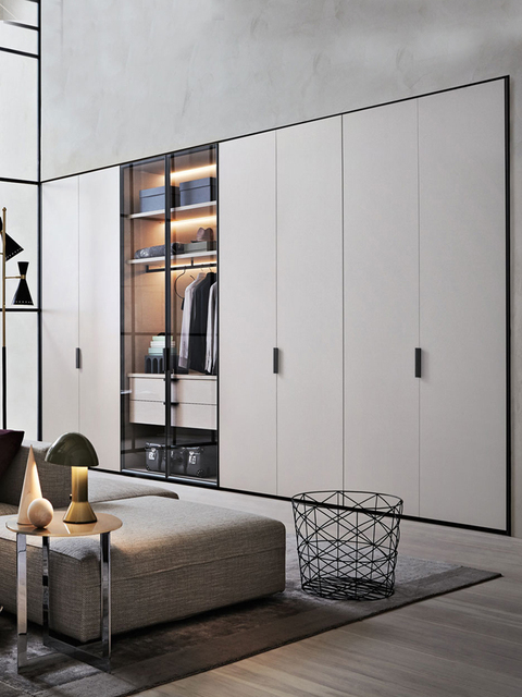 Australia Style Bedroom Modern Particle Board Sliding Door Wardrobe In  Foshan
