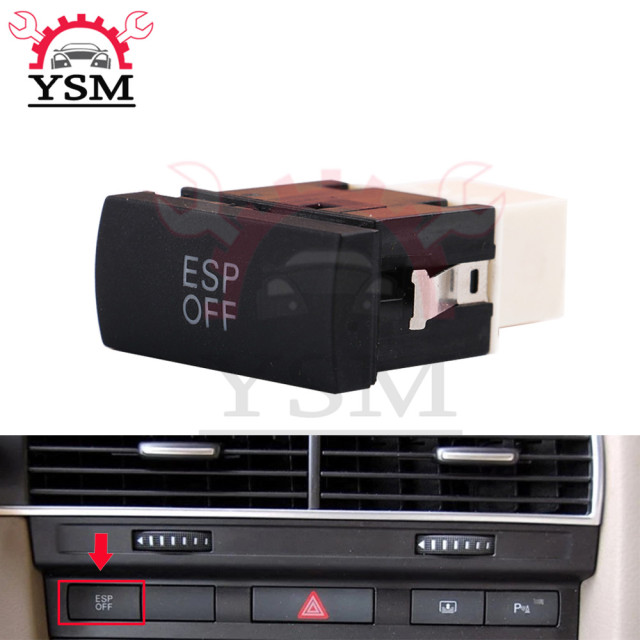 US $8 68 |YSM ESP Switch Electronic Button For Audi A6 C6 / A6 QUATTRO 2005  2011 4FD 927 134 4F0927134 4FD927134-in Car Switches & Relays from