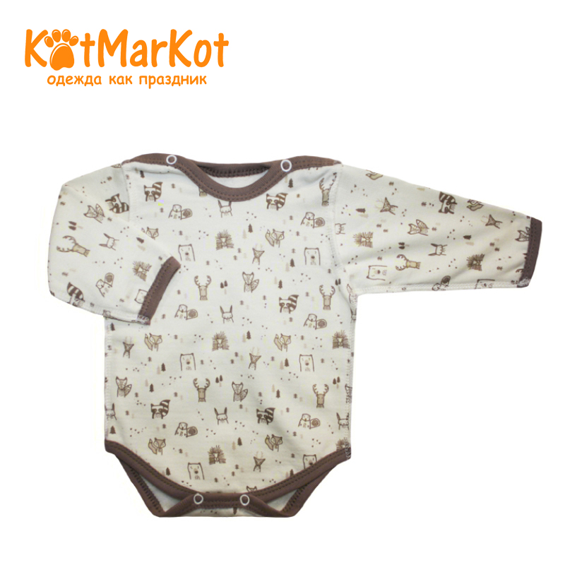 Фото - Bodysuit for Children Kotmarkot 9683 kid clothes plaid stand collar bodysuit
