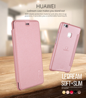 for huawei p9/G9 lite leather case Lenuo ledream series SOFT&SLIM Luxury flip case for huawei p9 G9 lite whole protective cover