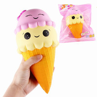 Sunny Squishyed Ice Cream Cone Jumbo 22cm Slow Rising With Packaging Collection Gift Soft Toy