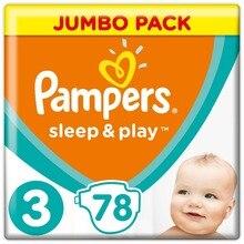 Подгузники Pampers Sleep & Play 6-10 кг, 3 размер, 78 шт.