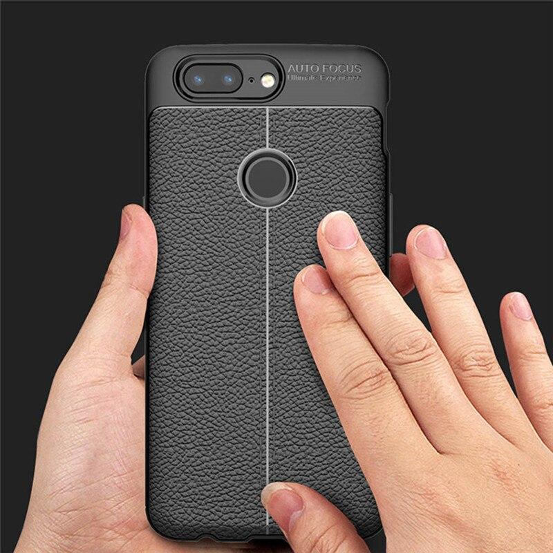Fancyqbue Мода ультра тонкий кожаный кожа мягкая TPU силикона Дизайн Телефонные чехлы Чехол для One Plus 5 т