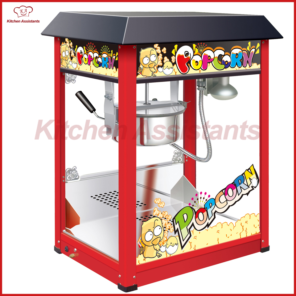 VBG817 Electric Professional automatic popcorn maker machine vbg1708 professional automatic popcorn machine maker with big volume 8oz series
