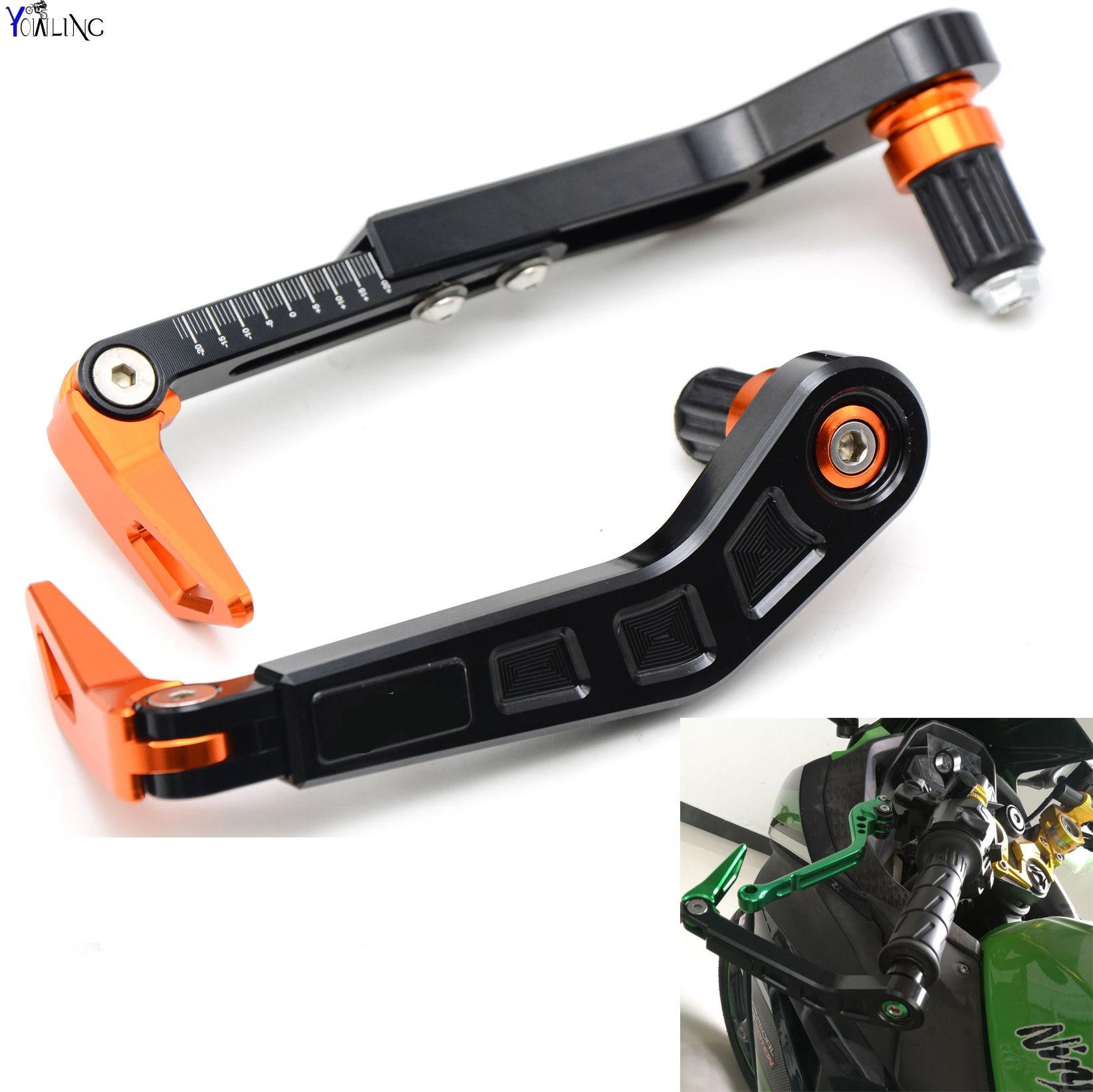 Universal 7/822mm Motorcycle Handlebar Brake Clutch Lever Protect Guard for KTM RC8 RC8R RC125 125 Duke 990 SMR/SMT Super Duke motorcycle cnc billet aluminum handlebar protection 7 8 22mm brake clutch lever protect guard for ktm 125 200 390 690 990 duke