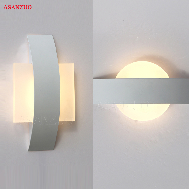 LED Wall Lamps AC85-265V Modern Simple Bedroom Lights Indoor Dining-room Corridor Aisle Lighting Aluminum lampadaLED Wall Lamps AC85-265V Modern Simple Bedroom Lights Indoor Dining-room Corridor Aisle Lighting Aluminum lampada