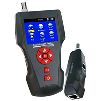 Handheld Network Cable Tester Error Detector PING POE Function RJ45 RJ11 BNC Coax Telephone Cable Length Tester w/ FREE TF Card