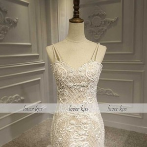 Image 4 - Lover Kiss Vestido De Noiva 2020 Luxury Lace Mermaid Wedding Dress Ceremonial Attire Beaded Pearls Africa Bridal Gown Corset