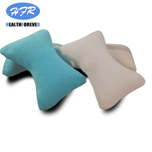 HFR-616 Blue+white Relaxation Memory Foam Neck Low Back Portable Massage Pillow For Office Home Car Auto