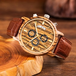 2018 Men Watch Men's Fashion Wood Watches Man Quartz Analog Date Clock Man Leather Casual Luxury Wooden Watch Relogio Masculino
