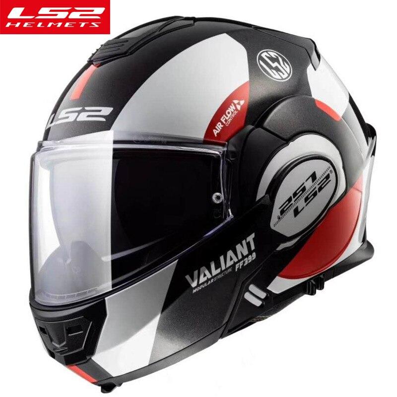 Nouveau LS2 FF399 flip up moto rcycle casque modulaire multi-fonction double bouclier haute qualité moto casque LS2 usine l'autorité casque