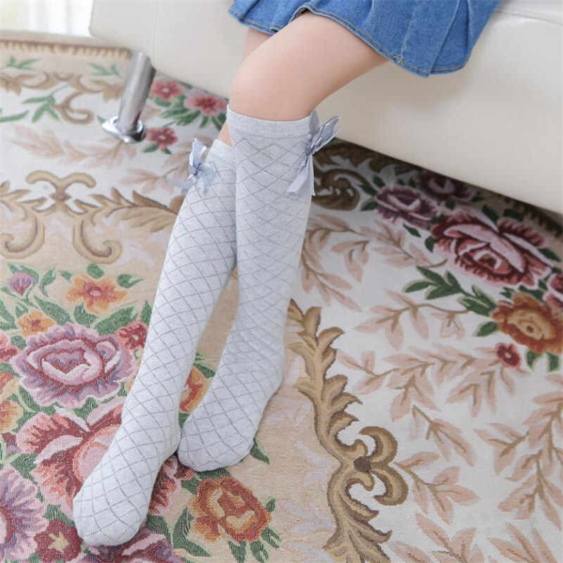 9ebb3834c26cc ... 2-8 T Kid Sock for Girls Children Cute Princess Solid Color Lace Bow  Tie ...