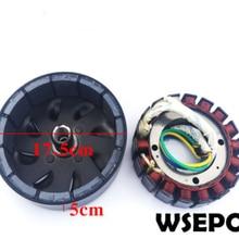 3000 ватт 18 полюс Напряжение в зависимости от пожеланий заказчика(48 V/60 V/72 V) статор и ротор комплект для генератор постоянного тока подходит на 19mm конические 41 мм выходной вал