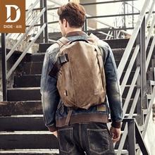 купить DIDE Male Backpack External USB Charge Waterproof Laptop Backpack PU Leather Travel Casual School Bag For Teenagers Men по цене 2313.16 рублей