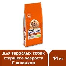 Сухой корм Dog Chow для взрослых собак старше 5 лет с ягненком, 14 кг